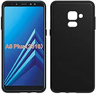 كفر حماية بلاستيك مرن لون أسود مطفي ( مات ) لجوال سامسونج جالكسي Samsung Galaxy A8 PLUS 2018
