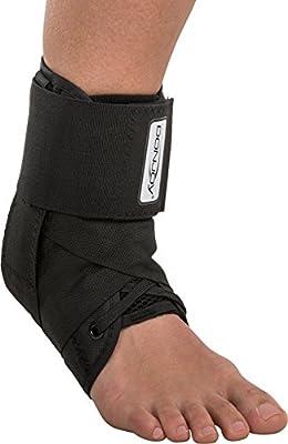 DonJoy Stabilizing Pro Ankle Support Brace, Black, Large
