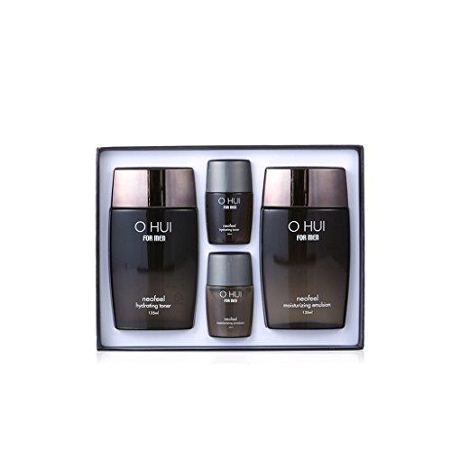 Ohui Pour Hommes Neofeel Set Spécial Total 4Pcs (Neofeel Hydrating Toner + Emulsion Hydratante De Neofeel + 2 Kit De Voyage)