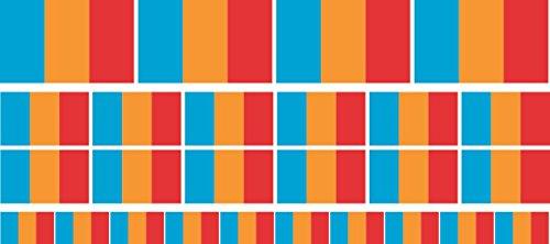Mini Aufkleber Set - Pack glatt - 4x 51x31mm+ 12x 33x20mm + 10x 20x12mm- Sticker - Moldavia - Flagge - Banner - Standarte fürs Auto, Büro, zu Hause & die Schule - Set of 26