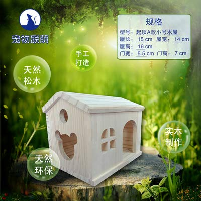 Willlly Hedgehog House Wood avec Sol avec Windows Winterfest Hedgehog Hut Totoro et Hamster Hare Chalet igelhaus Outdoor avec Rat 15x14x16 3