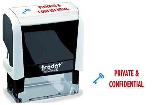 Trodat 77307 18 x 46 mm Printy Office Zelfklevende inkeping Privé/Vertrouwelijke stempel - Wit