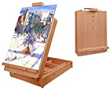Nuberlic Tabletop Easel Beech Wood Painting Easel Art Easel Stand Suitable for Painters,Adults and Kids