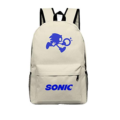XINFAN Borsa Sonic Acquista Sonic Movie Sonic The Hedgehog School Bag Zaino Zaino Computer da Viaggio in Tela