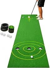 2-FNS Golf Putting Green/Mat-Golf Training Mat, Golf Practice Mat with 4 Golf Balls for Indoor/Outdoor