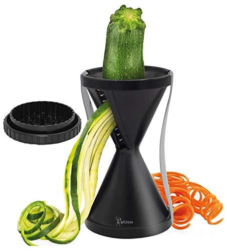 Cortador en Espiral para Cortar Verduras, Rallador de Verduras, Cortador en Spirelli Manual, Adecuado para Zanahorias, Pepinos y Calabacin Pasta