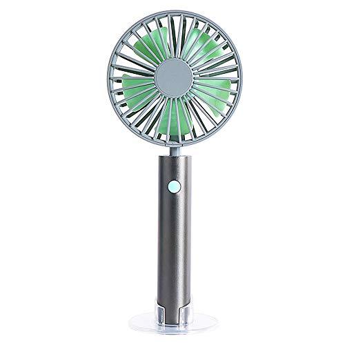 Wstomys Ventiladores Ventilador de Mano Manija de Aluminio Mini Portátil Recargable Portátil USB Fan (Color : Black)