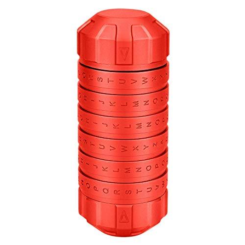 MKJ da Vinci Chiffre Sperren Paar Passwort Sperren Kreative Valentinstag Geburtstagsgeschenk Aluminiumlegierung, rot, 125 * 51 mm