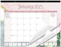 bloom daily planners 2021年 カレンダー 年 デスク/壁 マンスリーカレンダーパッド (2021年1月~2021年12月) - Lサイズ 21インチ x 16インチ ハンギングまたはデスクトップブロッター - マルチカラー