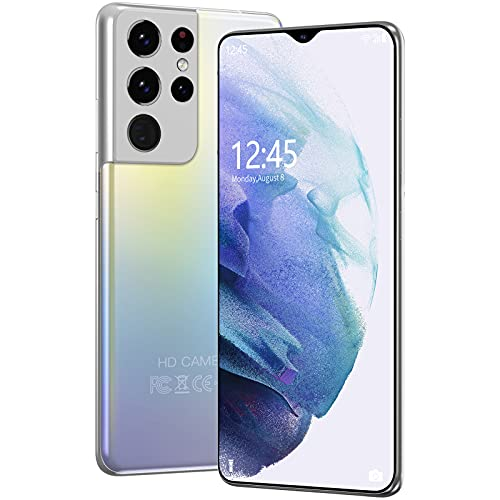 GELEI Smartphone Dual SIM De Cámara con 48MP Y Modo Nocturno, Moviles Smartphone Android 4GB RAM+128GB ROM, Pantalla De 6,7', Batería 6000Mah, Android 10,Plata