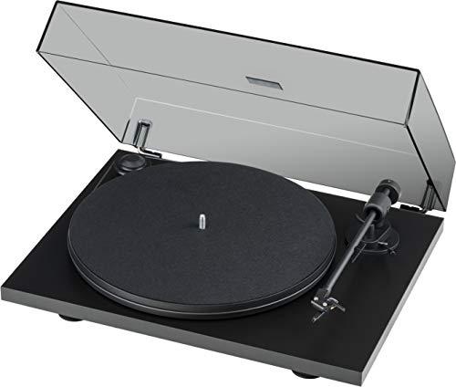 Pro-Ject Primary E Phono, Audiophiler Plug&Play Plattenspieler mit integrierter Phono Vorstufe (Schwarz)