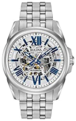 Bulova Men's Mechanical-Hand-Wind Watch with Stainless-Steel Strap(Bulova Automatic - 96A187 ) - bulova skeleton watch is the best affordable automatic skeleton watch