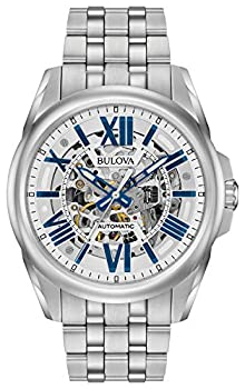 Bulova Classic Automatic Mens Stainless Steel  Silver-Tone  Model  96A187