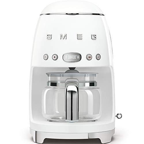 Smeg DCF01WHEU Cafetera Goteo DCF01 9 reseñas, 1050 W, 1.4 litros, De plástico, Acero Inoxidable,...