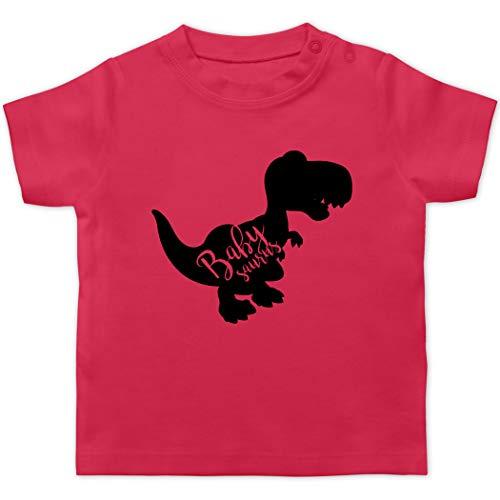 Partner-Look Familie Baby - Babysaurus - 12/18 Monate - Fuchsia - Geschenk - BZ02 - Baby T-Shirt Kurzarm