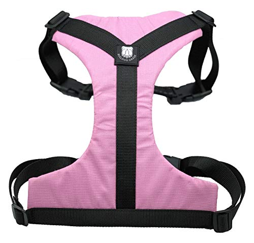 Bulldog Grade Harness for English-American-French Bulldogs - Custom Fit, No Pull, Reflective Vest Harnesses for Your Bully (Large, Piggy Pink)