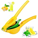 Sandewily Top Rated Premium Quality Metal Lemon Lime Squeezer - Manual Citrus Press Juicer,Professional Hand Juicer (yellow)