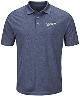 Majestic Majestic Milwaukee Brewers Navy Endless Flow Cool Base Polo シャツ ポロシャツ 【並行輸入品】
