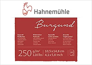 Hahnemuhle Burgund Watercolour Post Card Pad - A6-250 GSM - 10.5 * 14.8 (cm)