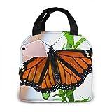 erjing Bolsa de Picnic de Mariposa monarca Tote Bento Bolsa Grande de preparación de Comidas Bolsas Grandes a Prueba de Fugas