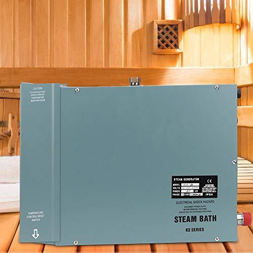 Naroote Generatore di Vapore per Sauna, generatore di Vapore 7KW con Controller Display Digitale Impermeabile per Doccia Sauna Bath Home Spa(Unione Europea, 220V)