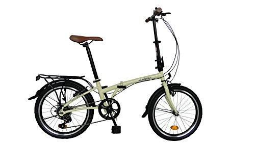 Bicicleta de ciudad pleglable ECOSMO 6SP - 20F01BL con rueda de 20''
