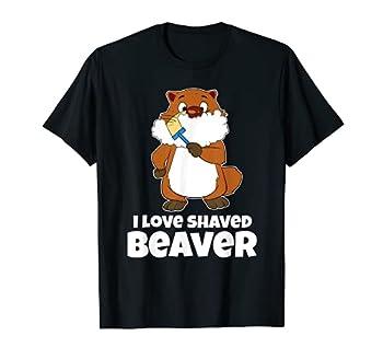 Funny I Love Shaved Beaver Raccoon Razor T-Shirt