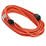 Otimo 50 Ft 16/3 SJTW Outdoor Light Duty Extension Cord - 3 Prong Extension Cord, Orange