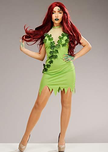 Disfraz Verde de Estilo Hiedra venenosa para Mujer Medium (UK 12-14)