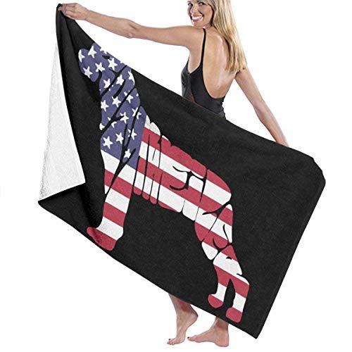 521 Usa Flagge Rottweiler H& Duschtuch Ausbleichsicher Summer Badetuch Mikrofaser Strandtücher Leicht zu pflegen Badehandtücher Für Fitnessstudio Erwachsene Kind Geschenk,80X130Cm
