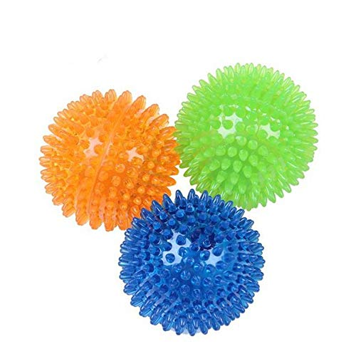 Hondenbal Piepende ballen voor honden Kleine, haal ballen voor honden Rubberpack Heldere kleuren Puppy speelgoed Hondenspeelgoed Ballen Honden Piepend speelgoed Spike Ball Honden kauwspeeltjes voor