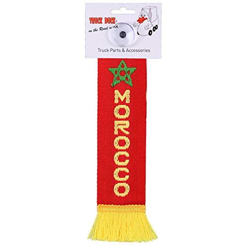 TRUCK DUCK® LKW Auto Minischal Marokko Morocco Mini Schal Wimpel Flagge Fahne Saugnapf Spiegel Deko