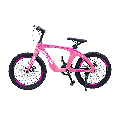 """NiceC 20"""" Bike,Kids BMX Mountain Bike, Cycle Bicycle with Dual Disc Brakes, Ultralight for Boys and Girls(20"""" Pink)"""