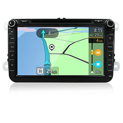YUNTX Android 8 Autoradio Compatible con Golf/Skoda/Seat - GPS 2 DIN - Cámara Trasera&Canbus Gratis - 8 Pulgada - 2GB/32GB - Soporte Dab+ / Mandos de Volante/USB / 4G/ WiFi/Bluetooth/MirrorLink