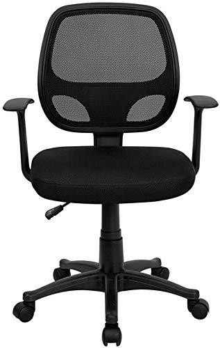 SWNN Gaming Chair Muebles más Agradable Respaldo Medio Negro Malla Silla de Trabajo del Ordenador...