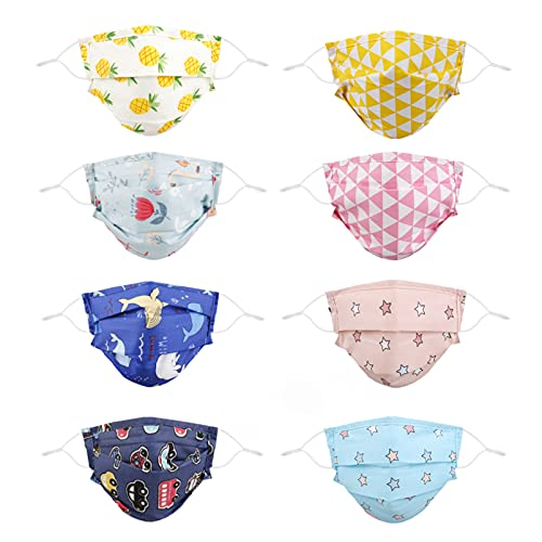 Fashion Face Mask Reusable, Design Cool Cubre Bocas Funny Double Cotton Decorative Colorful Cute Cloth Girl Washable Adjustable Youth Dust Pleated Covering Comfortable Printed Size