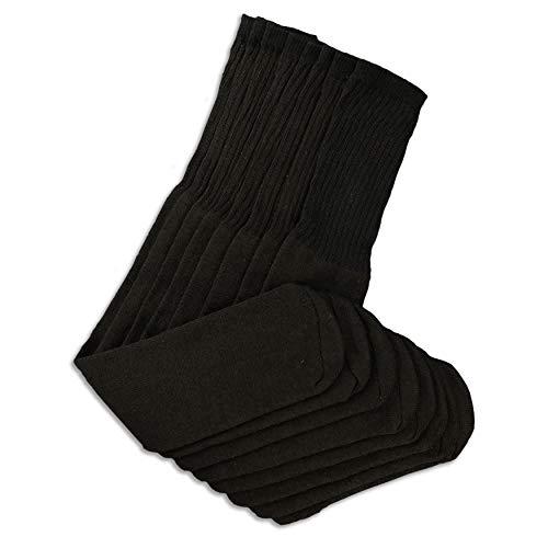 socks Herren, dick, groß, hoch, extra lang, Baumwolle, 71 cm, 4 Paar - Schwarz -