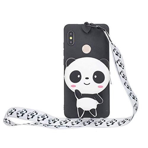LAXIN Cute Panda Case for Xiaomi Mi A2 / Mi 6X, Soft 3D kawaii Panda Silicone Case,Cute Animal...
