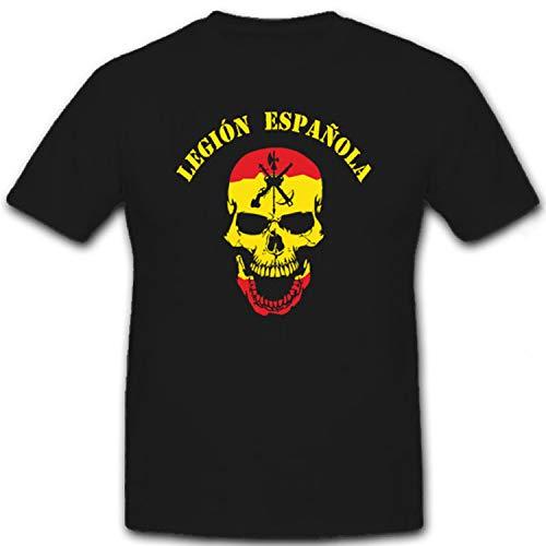 Legión Española Spanische Legion Skull Totenschädel Logo - T Shirt #6617, Größe:XL, Farbe:Schwarz