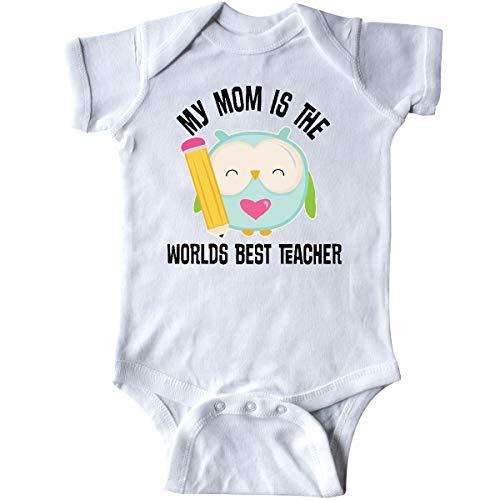 inktastic Teacher Mom School Owl Infant Creeper 6 Months White 25028