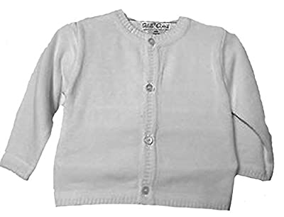 Petit Ami Unisex Cardigan Sweater Infant White (9 Months)