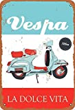 No/Brand Vespa La Dolce Vita Metall Blechschild Retro