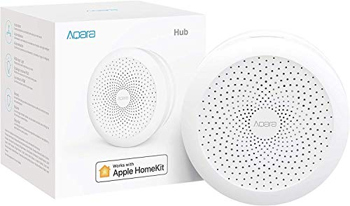 Aqara Smart Hub, Wireless Smart Home Bridge for Alarm System, Home Automation, Remote Monitor and Control, Works with Apple HomeKit, Google Assistant, IFTTT, and Compatible with Alexa (Renewed)