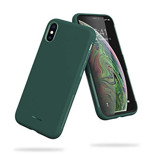UNBREAKcable Funda para iPhone X, Funda para iPhone XS - [Anti-choques, Antideslizante, Ultrafino] Carcasa Protectora con TPU Suave para iPhone X/XS (5,8'') -Verde Oscuro