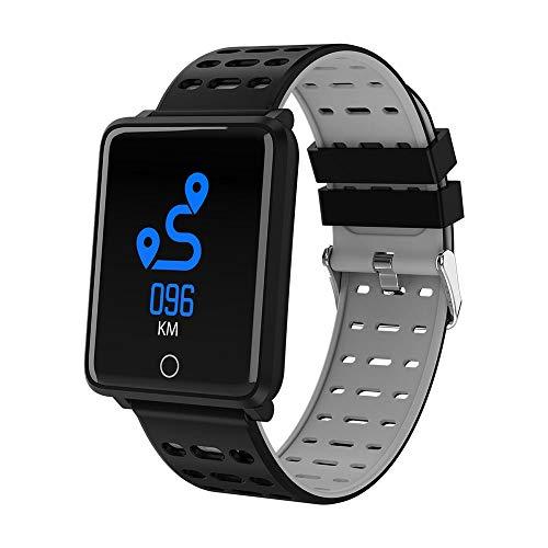 Ningz0l Fitness Tracker Smart Armband Horloge bloeddrukbewaking hartslagmeter slaap stappenteller waterdicht kleurenscherm gezondheid armband grijs