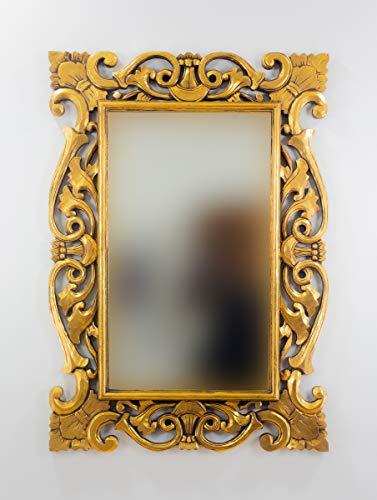Rococo Espejo Decorativo de Madera Tanduk de 100x70 en...