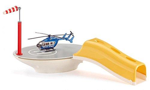 SIKU 5506 - Hubschrauberlandeplatz inkl. Hubschrauber Heli Taxi in Größe 1:87, Kunststoff, Kompatibel mit Hubschraubern im Maßstab 1:50 und 1:87, Vielseitig einsetzbar, multicolor