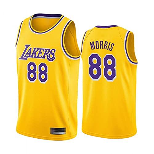 XXJJ Markieff Morris Basketball Jersey, Camiseta de Malla sin Mangas para Lakers Fans de Deportes Gold-XXL