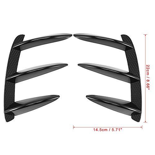 X AUTOHAUX Pair Rear Bumper Vent Cover Flaps Splitter Trim Black ABS for Mercedes-Benz W176 A200 A250 A45 AMG