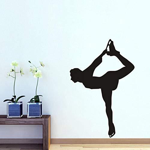 Girl Gym Decoración para el hogar Vinilo removible Etiqueta de la pared-68x55cm